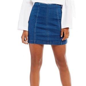 Free People blue jean skirt size 10